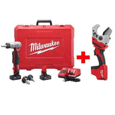 M12 12-Volt Lithium-Ion Cordless ProPEX Expansion Tool Kit with Free M12 PVC Shear