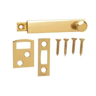 2-1/2 in. Solid Brass Surface Bolt