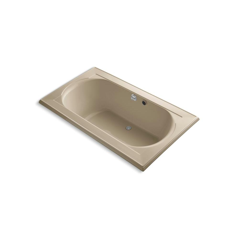 KOHLER Memoirs 6 ft. Whirlpool Tub in Mexican Sand-DISCONTINUED