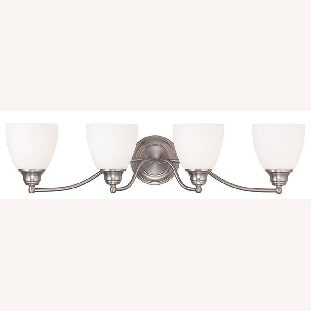 Somerville 4-Light Brushed Nickel Bath Vanity