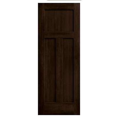 30 in. x 80 in. Craftsman Espresso Stain Molded Composite MDF Interior Door Slab