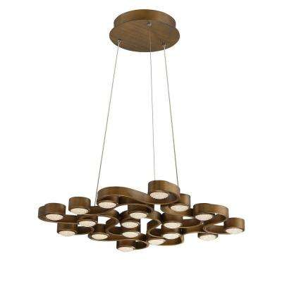Pallazo Collection 64.8-Watt Bronze Integrated LED Chandelier