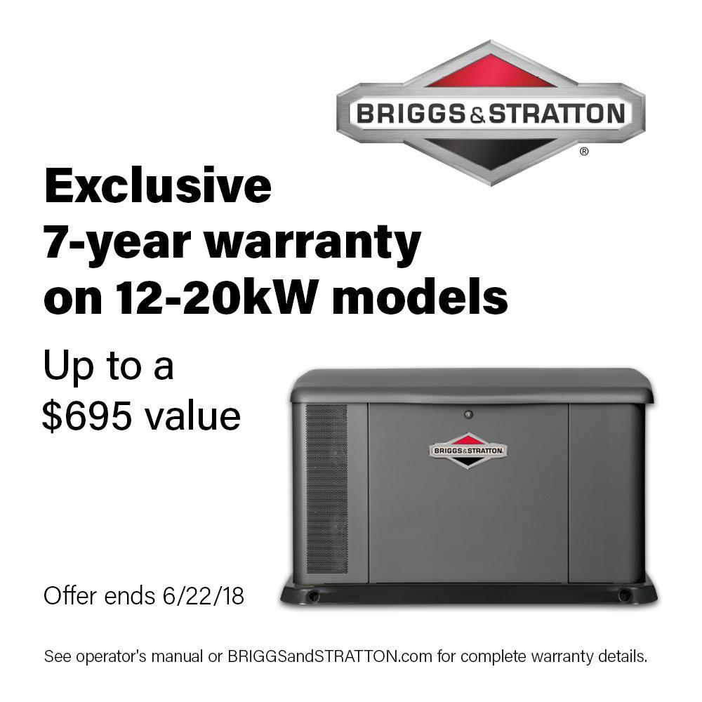 Briggs & Stratton 17,000-Watt Air Cooled Home Standby Gen...