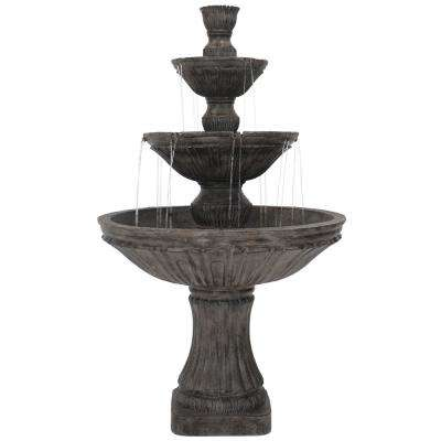 55 in. 3-Tier Classic Designer Outdoor Tiered Water Fountain (8-Pieces)