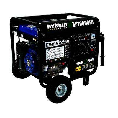 8,000-Watt Dual Fuel Powered Electric Start Portable Generator