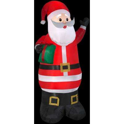3 ft. W x 6.5 ft. H Santa with Present