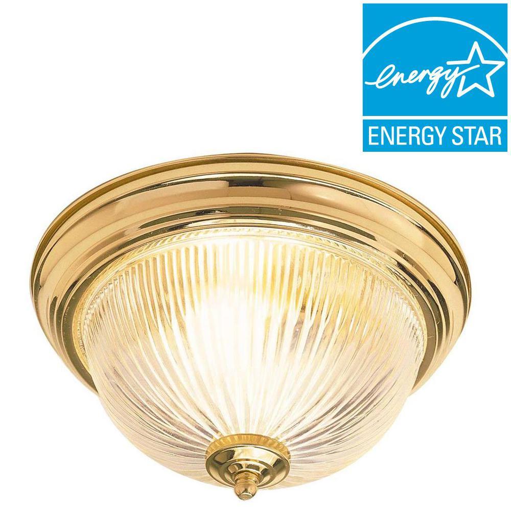 Dandridge 2-Light Polished Brass Flush Mount
