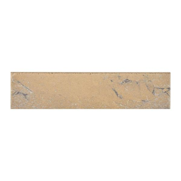 Ayers Rock Bronzed Beacon 3 in. x 13 in. Glazed Porcelain Bullnose Floor and Wall Tile (0.32 sq. ft. / piece)