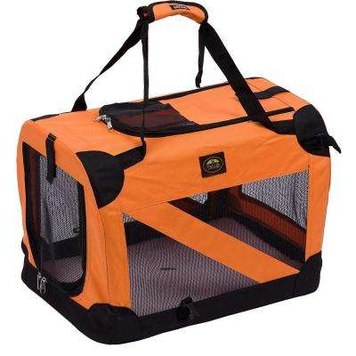 Orange 360 Degree Vista-View Soft Folding Collapsible Crate - X-Large