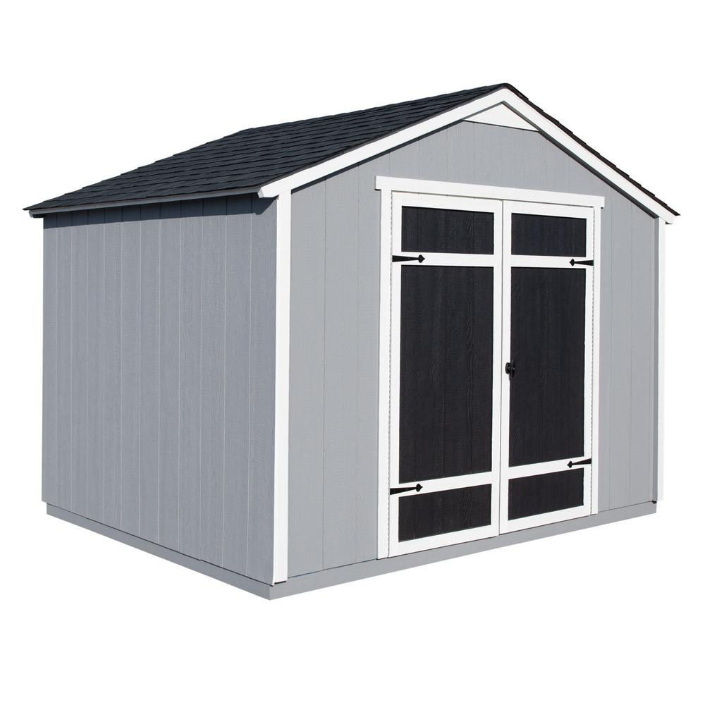 Handy Home Products Monarch 10 Ft X 8 Ft Wood Storage Shed