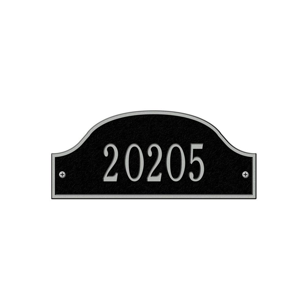 Admiral Petite Arch Black/Silver Wall One Line Address Plaque