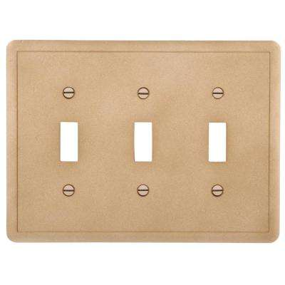 Brown 3-Gang 3-Toggle Wall Plate (1-Pack)