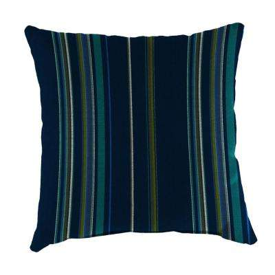 Sunbrella Stanton Lagoon Square Outdoor Throw Pillow