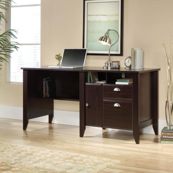 Sauder Shoal Creek Jamocha Wood Computer Desk 422194 The