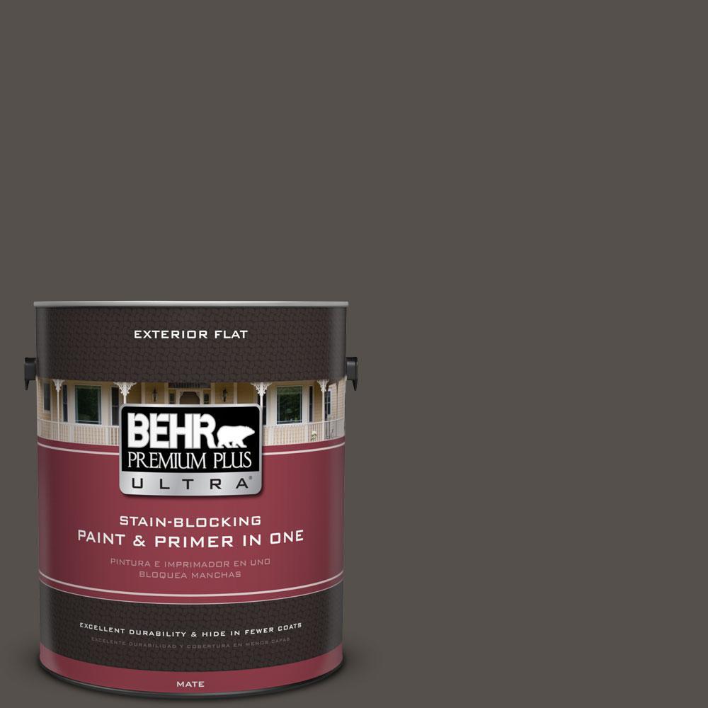 1-gal. #790D-7 Black Bean Flat Exterior Paint