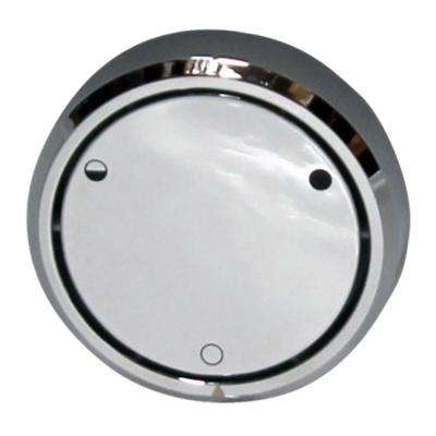 Round Replacement, Full or Partial Closing Metal Overflow in Polished Chrome