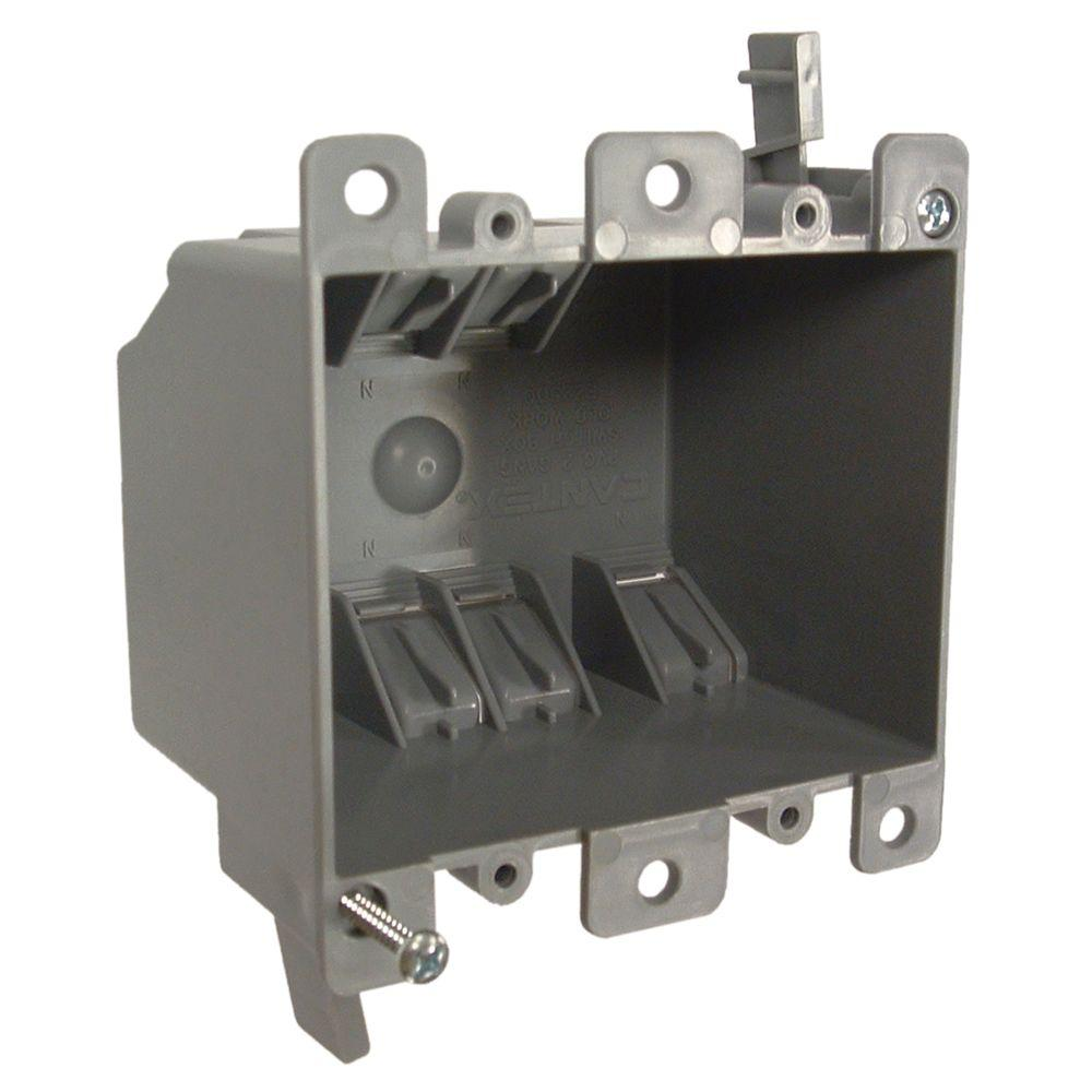 RACO 2-Gang Non-Metallic Square Cable Box, 2-3/4 in. Deep (30-Pack)