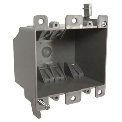 2-Gang Non-Metallic Square Cable Box, 2-3/4 in. Deep (30-Pack)