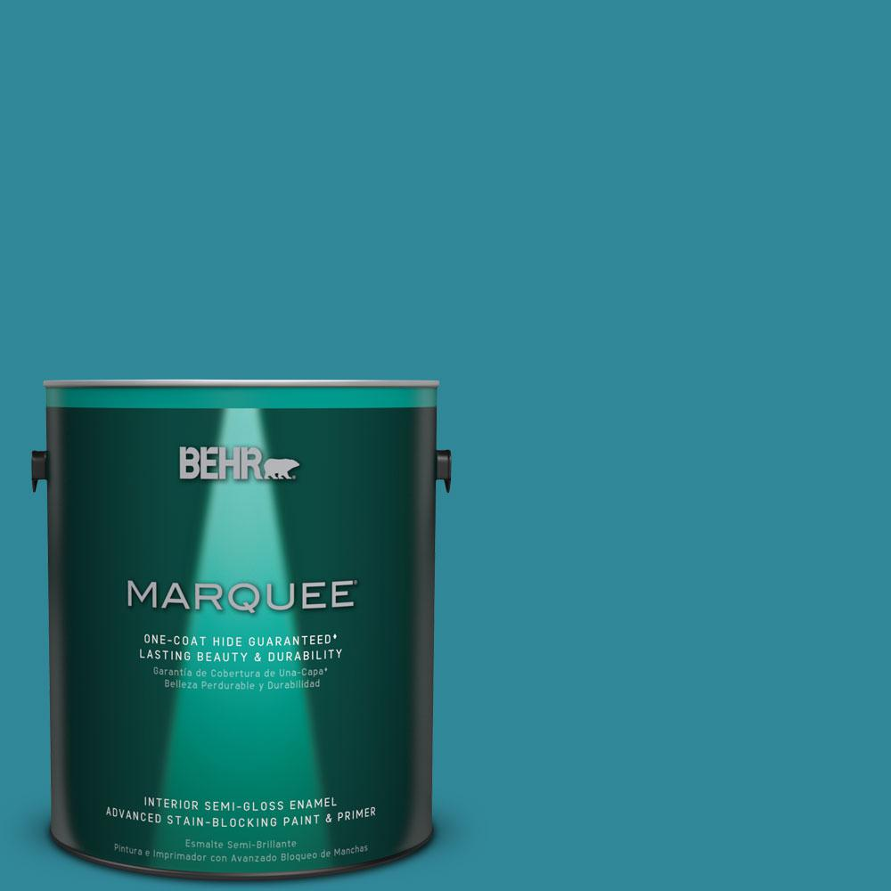 1 gal. #M470-6 Precious Stone One-Coat Hide Semi-Gloss Enamel Interior Paint