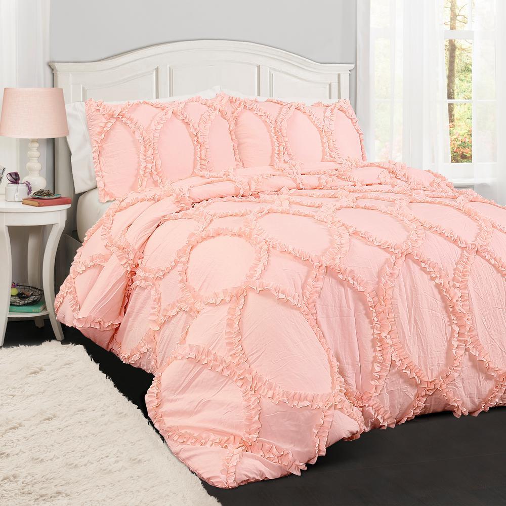 Avon Comforter Pink 3 Piece Full Queen Set