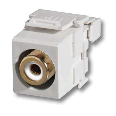 Snap-In RCA to 110 Module Connector, White