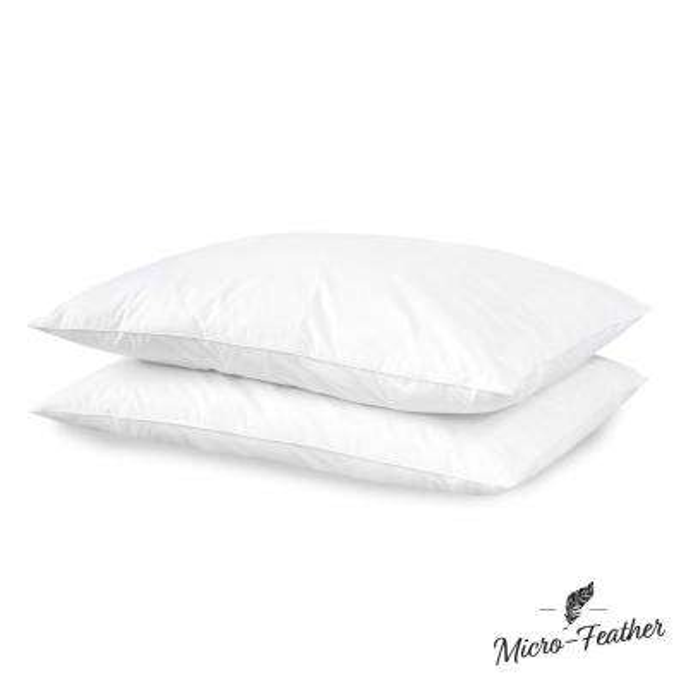 Micro-Feather Plush Jumbo Pillow (Set of 2)