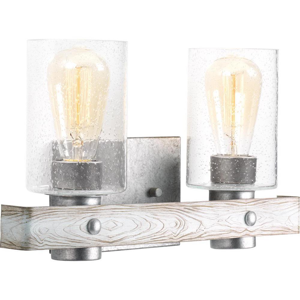 Gulliver 2-Light Galvanized Bath Light
