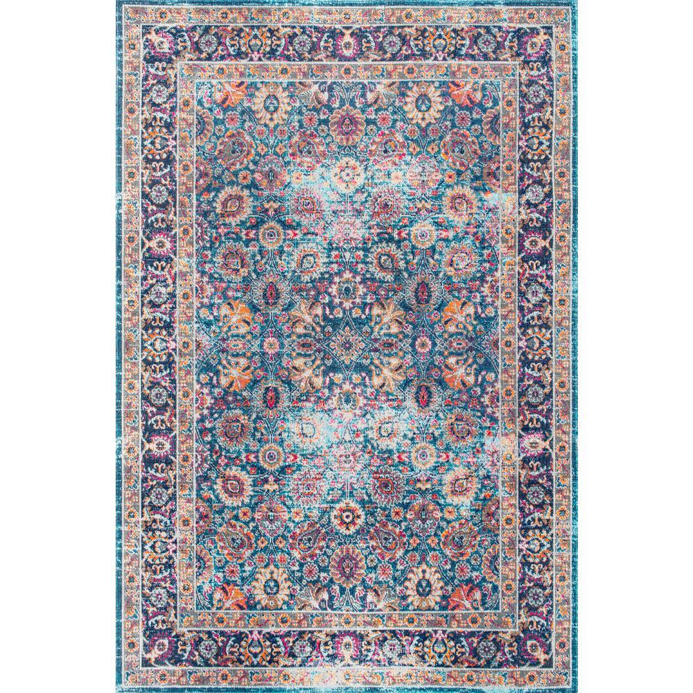 nuLOOM Isela Vintage Persian Blue 7 ft. x 9 ft.  Area Rug