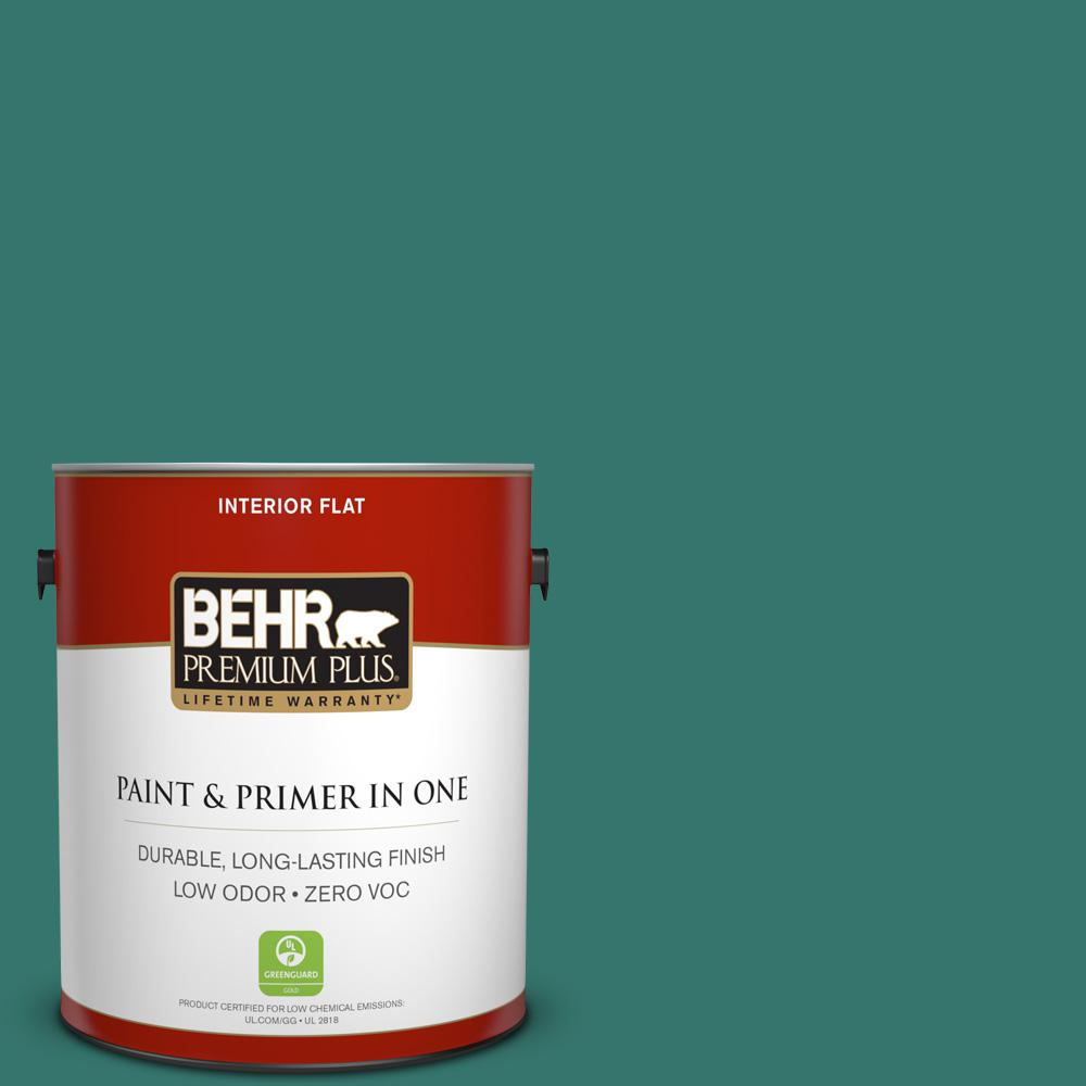 1 gal. #490D-7 Greensleeves Flat Zero VOC Interior Paint and Primer