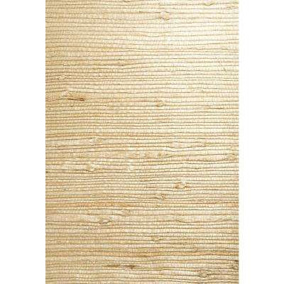 Martina Beige Grasscloth Wallpaper Sample