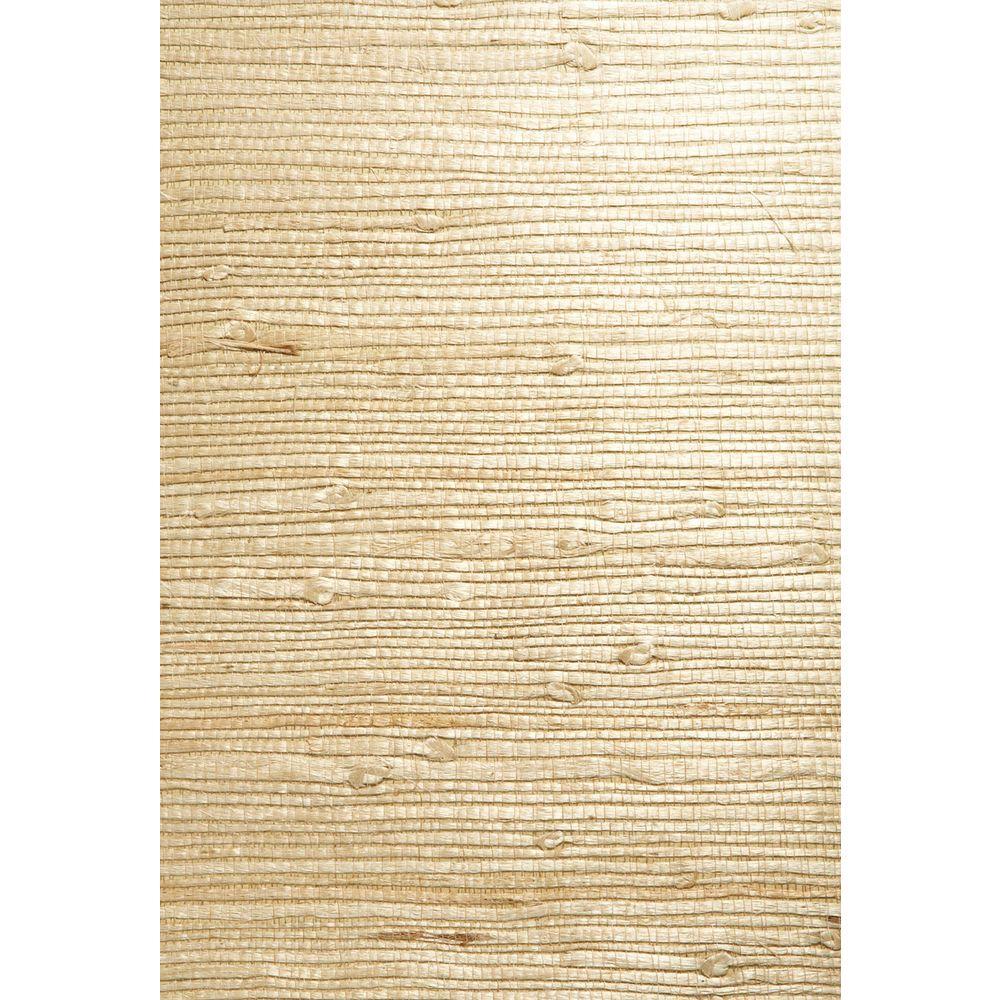 Martina Beige Grasscloth Beige Wallpaper Sample
