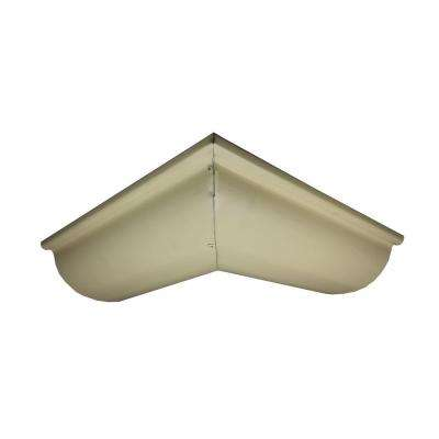 6 in. Half Round Antique Ivory Aluminum Outside Miter