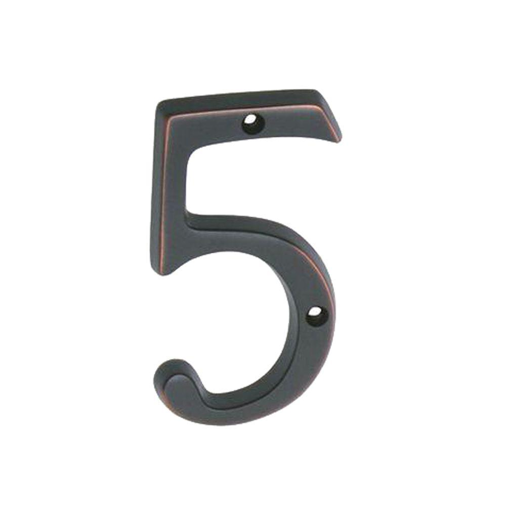 Schlage 4 in aged bronze classic house number 5 sc2 3056 for Classic house numbers