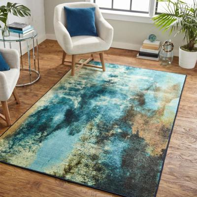 Glacier Water 8 ft. x 10 ft. Abstract Area Rug