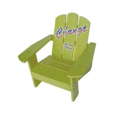 Kids Yellow Patio Adirondack Chair