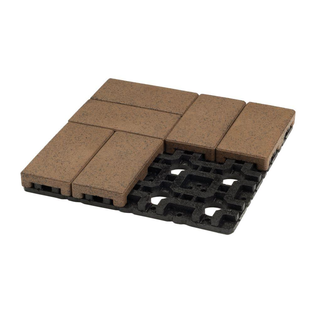 4 in. x 8 in. Olive Composite Resurfacing Paver Grid System