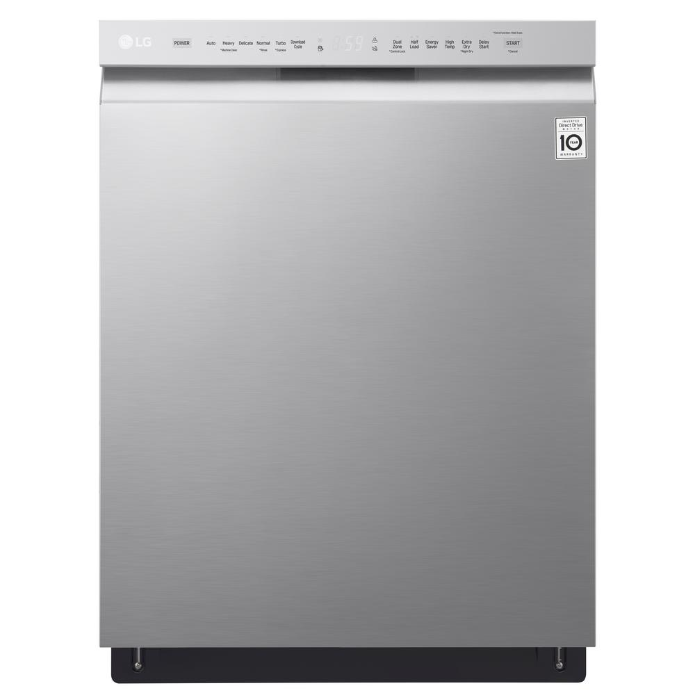 LG Electronics 24 in Front Control Built-In Tall Tub Dishwasher in PrintProof Stainless Steel w/ QuadWash & Stainless Steel Tub, 48 dBA