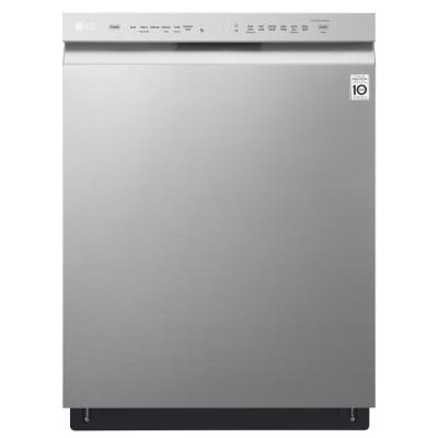 LG 24 in Front Control Built-In Tall Tub Dishwasher in PrintProof Stainless Steel w/ QuadWash & Stainless Steel Tub, 48 dBA