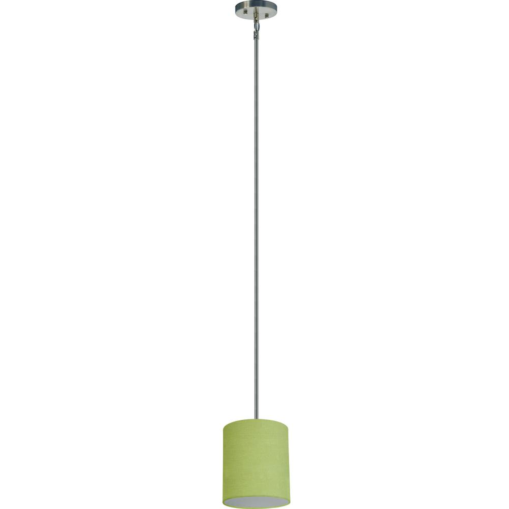 1-Light Satin Steel Pendant