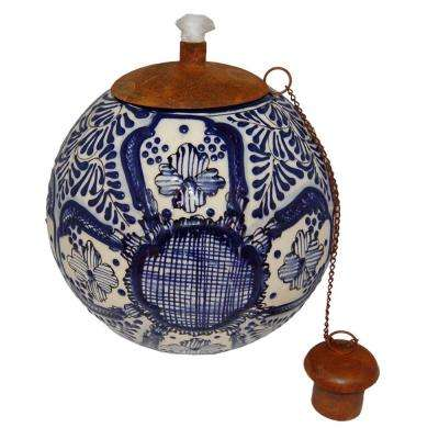 Blue Relief Table Top Torch