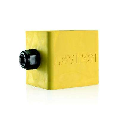 2-Gang Standard Depth Pendant Style Cable Dia 0.590 in. - 1.000 in. Portable Outlet Box, Yellow