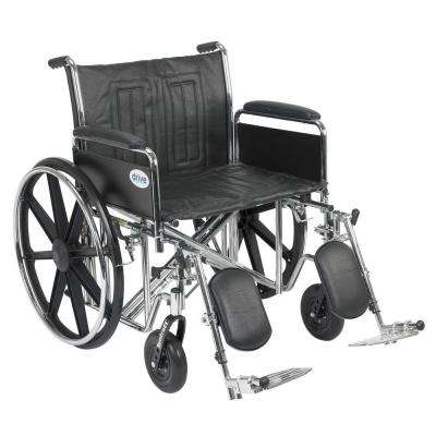 Sentra EC Heavy Duty Wheelchair with Full Arms, Elevating Leg Rests and 24 in. Seat