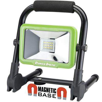 1200 Lumens Weatherproof Rechargeable Lithium-ion Foldable LED Work Light with Magnetic Stand and USB Charger