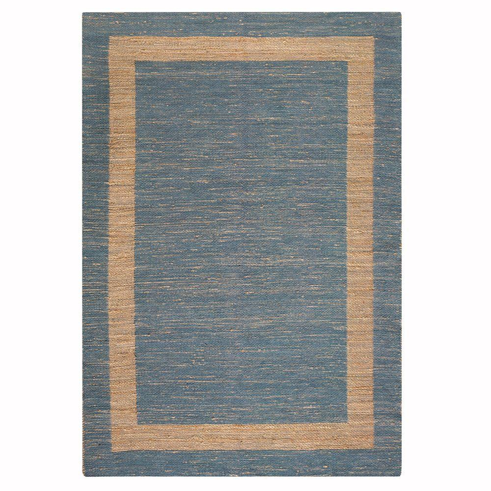 Home Decorators Collection Boundary Blue 4 Ft X 6 Ft Area Rug 0110120310 The Home Depot