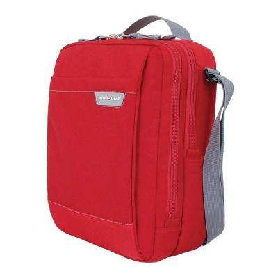 Red Vertical Travel Bag