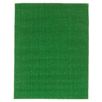 Evergreen Collection 1.66 ft. x  2.5 ft. Green Artificial Grass Area Rug