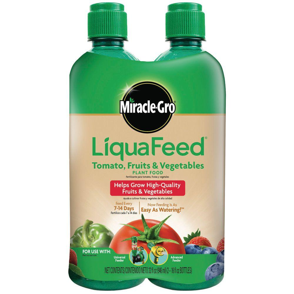 Miracle-Gro LiquaFeed 16 oz. Liquid Tomato, Fruits and Vegetables Plant Food Refills (2-Pack)