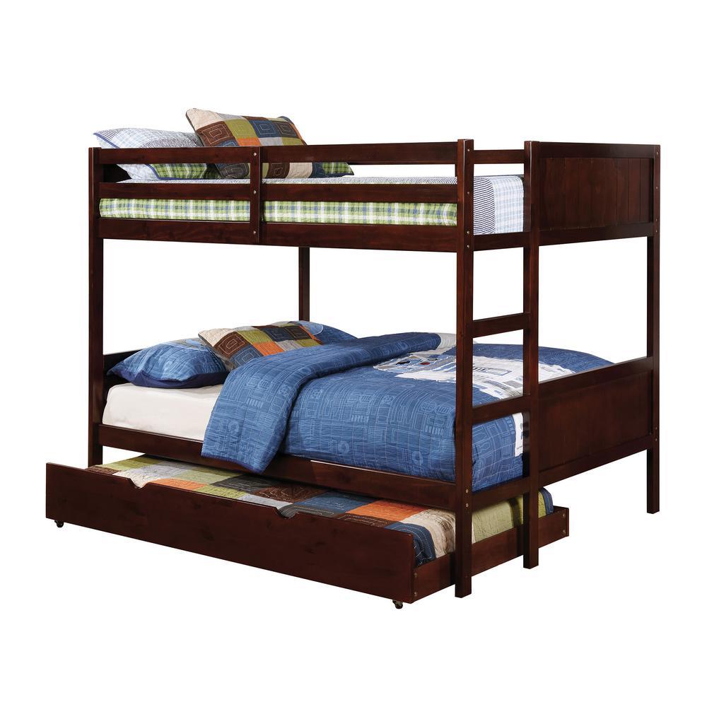 Annette Full Bunk Bed in Dark Walnut