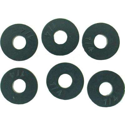 9/16 in. O.D. (1/4 Trade Size) Flat Fauet Washers (6-Pack)
