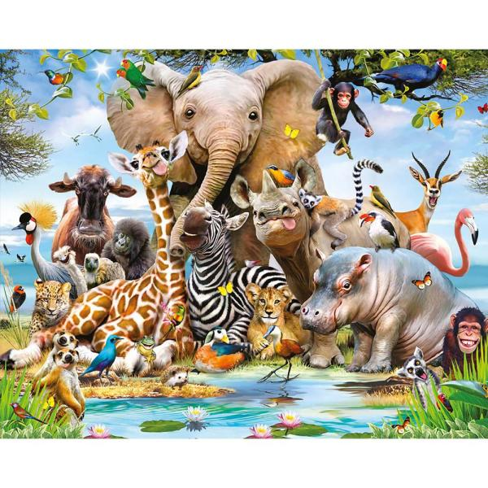 Animals Wallpaper: Walltastic Jungle Safari Animals Wall Mural WT45255